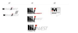 Варианты логотипа на этапе разработки